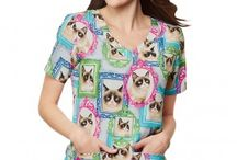 Grumpy Cat Scrubs / The famous Grumpy Cat has joined the Tafford family. Get your #GrumpyCat scrubs here!
