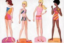 barbie2 paper doll / Barbie aankleedpoppen en andere papieren Barbie Ken Skipper Francine etc.