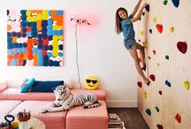 climbing wall in house