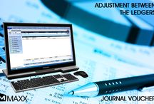 Journal Voucher / Journal Voucher Transaction is used to record accounting events or new transactions... http://maxxerp.blogspot.in/2013/10/maxx-adjustment-between-ledgers-journal.html
