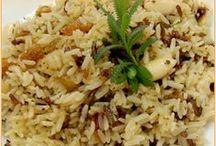 arroz con pasas y almendras
