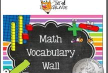 Math Word Wall (3rd Grade) Bundle - 164 Cards / Math Word Wall {3rd Grade} Common Core Standards. Mathematics vocabulary word wall cards provide a display of mathematics content words and associated visual cues to assist in vocabulary development. The cards should be used as an instructional tool for teachers and then as a reference for all students, particularly English learners and students with disabilities.