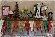 Christmas mantle covers