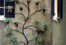 Adornos con plantas para paredes