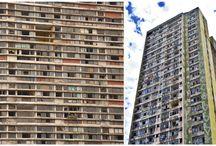 Slums ghettoes etc.