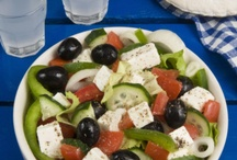 Food in Greece and Crete / Enjoy Greek food while you are in Greece - Crete or anywhere in the World . Popular dishes like Mousaka , Stuffed Tomatoes , Tzatziki , Soutsoukakia , Boureki , Stifado , Taramosalata , Greek Salad , Kleftiko , Gemista , Souvlaki etc. etc .