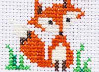 Free fox cross stitch patterns