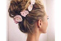 bride's hair/headpice