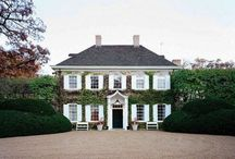 Town and Country: Exteriors / Bricks and boxwoods and dreams / by Jenny Brewster Style