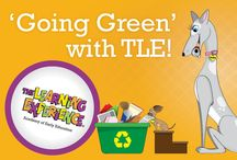 'Going Green' with TLE! / During April our Little Learners will sing songs and read books about keeping the earth clean. Preschoolers at TLE will complete science experiments designed to promote stewardship of the environment. This month, children will get to dress in green and create artwork using recycled materials!