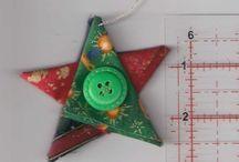 Star in xmas print tree decoration