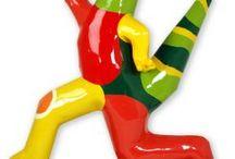 """Jenny Derksen Art: Polyester sculptures: """" Animals"""". / Kleurrijke polyester sculpturen, beelden, unica, dieren, kunst, art, kunstwerk, artwork."""