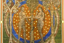 Adam and Eve/Christ and Mary / Images, historical and contemporary, which depict the parallels between Adam and Christ, Eve and Mary. Christ is the New Adam. Mary reversed the curse of Eve.