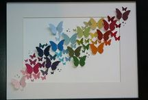 Schmetterlinge im Rahmen