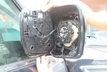 Install Blind Spot Monitor / This picture is installing KIT Blind Spot Monitor in Nissan Patrol.