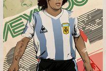 DIEGO ARMANDO MARADONA / EL Pibe de Oro -ElNaple 1926 fanshop T-shirt--  http://bit.ly/ElNapleFanShop