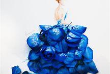 art met bloemen