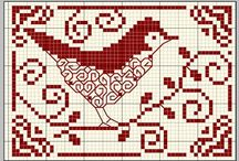 Point de croix oiseaux