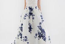 Printed wedding dress