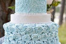 синий торт
