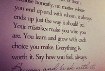 Inspiring words**