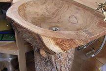 chiuveta lemn