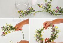 Velas y flores