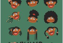 Funny hair posters
