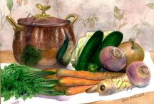 Still Life Paintings / still life paintings that set the stage for a wonderful meal with family and friends