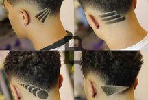 Men's hair fashion.