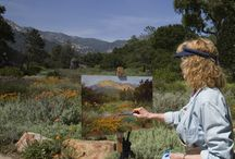 Plein Air painting in California / The artist, her garden and kitchen favorites