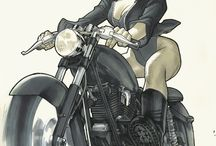 Motorcycle Woman marvel & dc