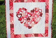valentines love heart quilts