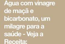 Água - Vinagre de Maçã - bicarbonato