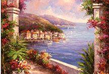 Romantische schilderijen