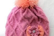 Knitting needles Cap for girls.  Шапочка для девочки. / Knitting needles Cap for girls - DIY tutorial.  Шапочка для девочки.