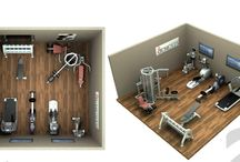 HOME GYM PLANS • IDEAS / by Gail