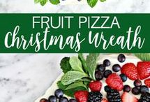 xmas weath fruit pizza