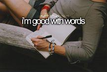 I love to WRITE!