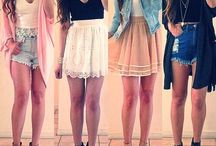 Love her outfits / by Mar