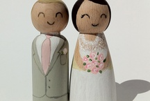 Ladies & Gentlemen Cake Toppers / Custom made cake toppers, hand painted to look like the bride and groom. www.weddingtoppers.co.za