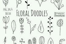 kreslené rastlinky