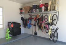 Sports Equipment Storage / Garage storage examples that help you access your sports equipment faster so you can get out and play!