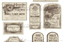 English vintage labels.