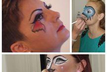 makhiaj fantezie / realizarile cursantilor scolii Cosmopro la cursul de make up artist