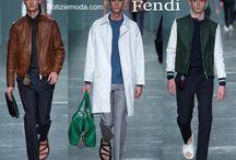 Fendi uomo / Fendi collezione e catalogo primavera estate e autunno inverno abiti abbigliamento accessori scarpe borse sfilata uomo.