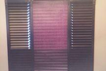 Barn door style shutters