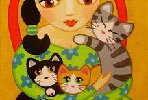 Arte con gatos