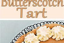 Butterscotch καραμέλας και ταρτες
