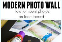 Photos on Foam Board